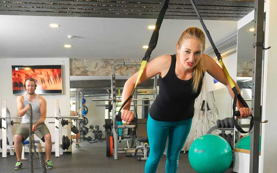 Fitnessstudio im Sporthotel