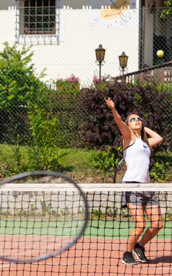 Tennis im Freien